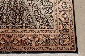Black Persian Rug Black Gonbad Qom Persian Rugs Gombad Silk Qum Carpets 3216