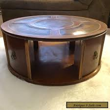 drum table for sale imperial mid century mahogany coffee drum table duncan phyfe