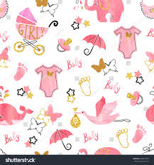 baby shower seamless pattern vector stock vector 496072645