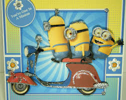 minion birthday card etsy