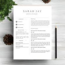 Resume Ms Word Template Modern Resume Template Cv Template Cover Letter Creative