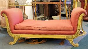 Fainting Bench Victorian Hollywood Regency Sofa Settee Love Seat Fainting Couch