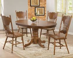 Solid Oak Dining Room Sets Oval Kitchen Table Pedestal Narrow Dining With Bench Wood Dinette
