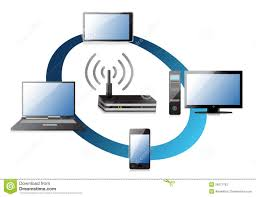 home wifi network concept stock photos image 29071793