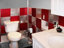 garage bathroom ideas 4 x8 set of anodized and polished silver plate wall tiles