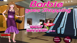 barbie game barbie goes shopping dress up game free games