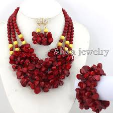 necklace from beads images 2018 fabulous nigerian wedding african coral beads jewelry set red jpg