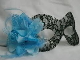 blue masquerade masks black lace masquerade mask blue