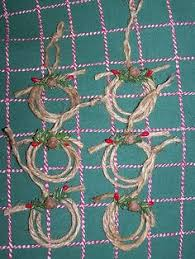 new western jute rope ornaments set