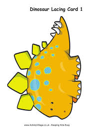 printable dinosaur lacing cards preschoolers