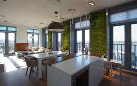 vertical garden walls add life to apartment interior