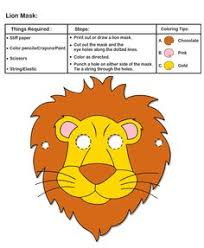 lion mask for kids make your own lion king mask craft printable coloring pages