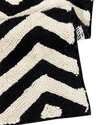 lorena canals machine washable rug black and white zig zag 100
