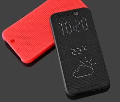 smart dot view display slim flip case cover for htc one m9 m9