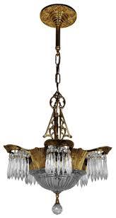 Chandelier Antique Brass Vintage Hardware U0026 Lighting Art Deco And Art Nouveau Lighting