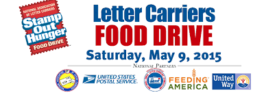 stamp out hunger food drive on saturday may 9th u2013letter carriers