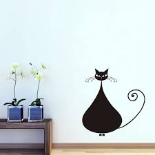 stickers de pour chambre grand siamois vinyle wall sticker pour chambre d enfants