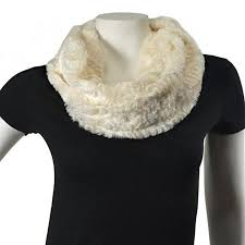 buy thedappertie s86 white womens white fur look winter scarf in