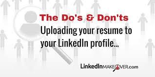resume uploader i upload my resume to my linkedin profile