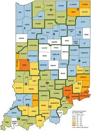 Indiana Counties Map Best Big Buck States For 2014 Indiana Game U0026 Fish