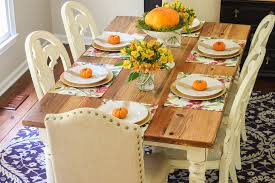Autumn Table Decorations Fall Table Decorations Fall The Orange Pumpkin Soup Bowls