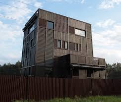 wood patchwork house alexino village konakovsky district 2009