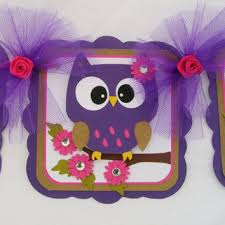 purple owl baby shower decorations shop owl baby shower banner on wanelo