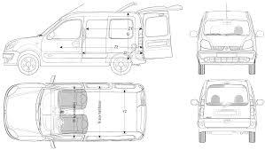 renault van kangoo car blueprints 2006 renault kangoo van blueprint