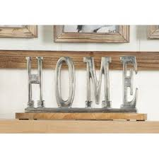 letter block decorative objects you u0027ll love wayfair