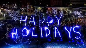 happy holidays tree lighting ceremony time lapse 4k ultrahd