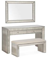 Furniture Vanity Table Sophia Mirrored Collection 3 Piece Vanity Set Furniture Macy U0027s