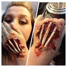 fx halloween makeup hand bones everyday is halloween
