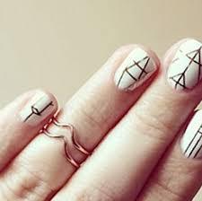 50 geometric nail art designs nails in pics