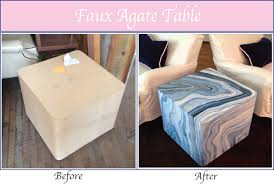 faux agate side table gorgeous shiny things diy faux agate a giveaway