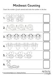 first counting worksheets