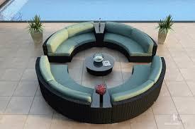 Contemporary Curved Sectional Sofa by Harmonia Living Urbana Eclipse 7 Piece Sectional Set Wicker Com