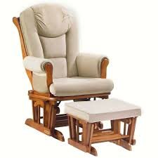 Baby Furniture Rocking Chair Furniture Comfortable Beige Glider Chair With Beige Ottoman And