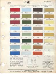 paint chips 1973 ford maverick mustang pinto rachero torino