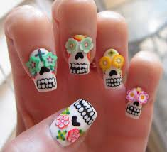 sugar skull nail art tutorial roxanne michelle