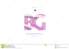 bg b g alphabet letter logo pink purple line icon template vecto