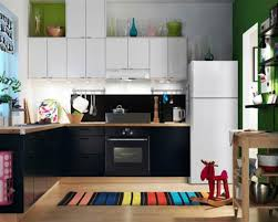 small ikea kitchen ideas wonderful ikea small modern kitchen design with black cabinet and