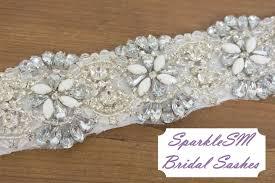Wedding Dress Sashes Bridal Sash Wedding Sash Bridal Belt Crystal Sash Rhinestone