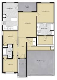 floor plans of homes 3 br 2 ba 1 story floor plan house design for sale houston tx