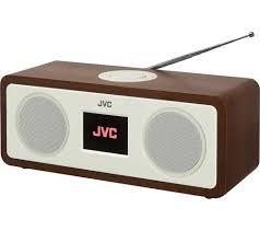 buy jvc ra d77m dab fm bluetooth clock radio wood u0026 cream