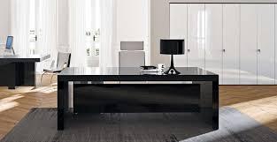 bureau noir verre bureaux de direction bureau executive bk laqué et verre noir 180