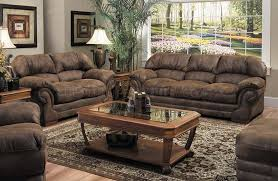 Sofas And Loveseats Sets by Tobacco Specially Treated Microfiber Sofa And Loveseat Set