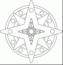 great star shape coloring page with shapes coloring pages