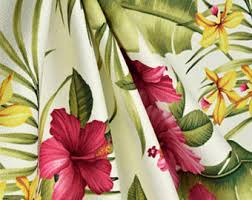 tropical curtains etsy