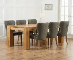 Oak Dining Table And Fabric Chairs Buy The Thames 220cm Oak Dining Table With Knightsbridge Fabric