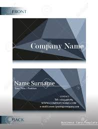 Business Cards Front And Back A Front And Back Design Of A Calling Card On A White Background